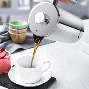 meilleure cafetière à piston en acier